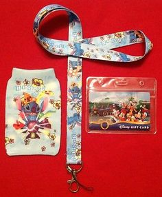 Disney Pin Trading Lilo Stitch Lanyard with Phone Sock Clear I D Pouch | eBay