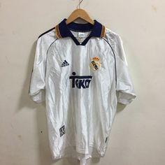 VTG REAL MADRID Retro Football Jersey  Soccer Shirt #16 Jaime  1998    eBay