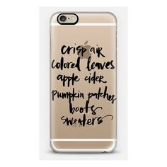Casetify iPhone 6 Plus/6/5/5s/5c Metaluxe Case - Fall - Crisp Air ($50) ❤ liked on Polyvore featuring accessories and tech accessories