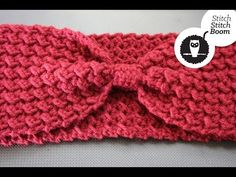 """Crochet Tutorial: Moss Stitch Ear Warmer"" Loverly tutorial by Stitch Stitch Boom."