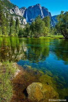 Yosemite Falls Reflections by Edward Marcinek on 500px