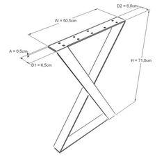 XZ Metal Dining Table Legs steel table legs, modern desk legs, iron table legs – Food for Healty