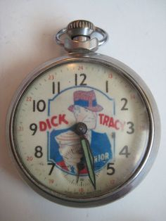 Dick Tracy Pocket Watch Keeping Good Time | eBay