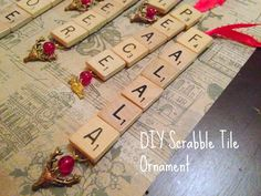 Another Crafty Day: Twelve Crafts of Christmas Series: Scrabble Tile Ornaments