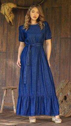 Stylish Dresses For Girls, Casual Dresses, Girls Dresses, Mom Dress, Vintage Wardrobe, Modest Outfits, Fashion Outfits, Womens Fashion, Pretty Outfits