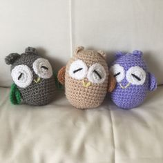 This little owl is now available in new colours for Spring.