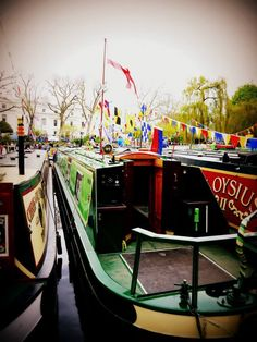 Canal boat river festival, London.
