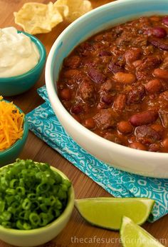 Steak & Three Pepper Chili - thecafesucrefarine.com