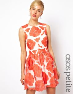 ASOS Petite   ASOS PETITE Exclusive Prom Dress With Embroidered Flowers at ASOS