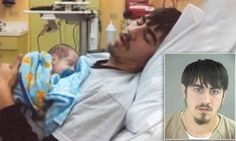 Father posed alongside newborn in touching hospital shots just weeks before he started horrific abuse that would leave the baby dead