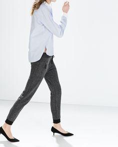 Image 3 of ZIP WAIST SWEATPANTS from Zara