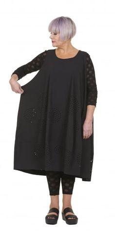 Rundholz Black Label Black Laser Cut Oversized Spot Dress