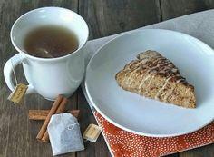 Cinnamon Scone with Vanilla Chai Glaze