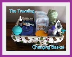 The Traveling Changing Basket - for a multi-level house and/or with multiple kiddos