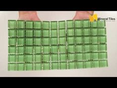 Glass Mosaic Tile Backsplash Light Green 1x1 mesh mounted on a 12x12 sheet for kitchen backsplash, bathroom, shower, featured wall and swimming pool. - See more at: http://www.mineraltiles.com/glass-mosaic-tile-backsplash-light-green-1x1/