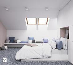 Średnia sypialnia małżeńska na poddaszu, styl nowoczesny - zdjęcie od LIVING BOX