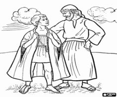 Joseph and the coat of many Colours Bible Story Colouring