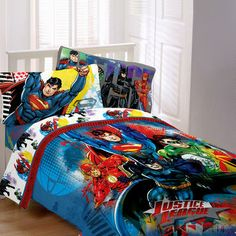 Justice League: League of Heroes Twin Sheet Set