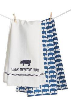 Levtex 'Pig' Dish Towel (Set of 2)