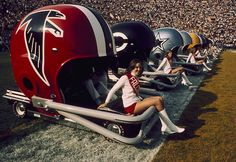 Missing: One Atlanta Falcons Helmet Go-Cart. Last Seen: Super Bowl VII May be found with the. Atlanta Falcons Helmet, Falcons Football, Football Cheerleaders, Sport Football, Football Helmets, School Football, Football Photos, Sports Photos, Sports Illustrated Covers