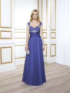 Latest Straps Floor Length Blue Chiffon A Line Mother Of The Bride Dress B2va0019 $228 Chiffon Mother Dresses