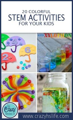 Engage and brighten your child's learning with these 20 easy and colorful STEM activities.
