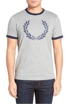 FRED PERRY Laurel Wreath Ringer T-Shirt. #fredperry #cloth #