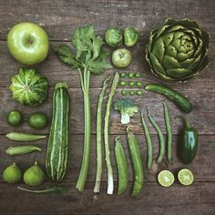 Colors Organized Neatly: The Garden Collection - Green Vegetables by Emily Blincoe.