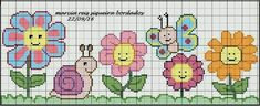 This Pin was discovered by Lin Cross Stitch For Kids, Cross Stitch Heart, Cross Stitch Borders, Cross Stitch Flowers, Cross Stitch Designs, Cross Stitching, Cross Stitch Embroidery, Embroidery Patterns, Cross Stitch Patterns