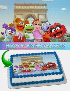 Adult Birthday Cakes, My Son Birthday, Birthday Bash, Birthday Ideas, Cake Decorating Equipment, The Muppet Show, Muppet Babies, Birthday Cake Decorating, Baby Party
