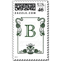 Art Nouveau Lily Monogram Stamp