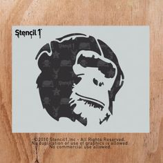 Chimp | Stencil1 Price:$10.99 Good for your street art!