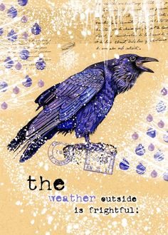 Raven Winter Greeting Card   The Weather Outside is by roxy5235, $2.99