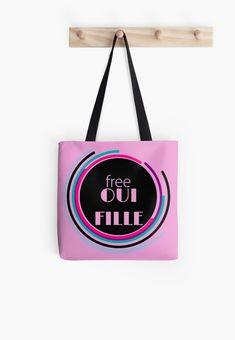 « Free oui fille - free wifi  » par LEAROCHE Oui, Free Wifi, Reusable Tote Bags, Shoulder Bag, Products, Shoulder Bags
