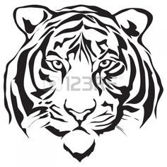 Tiger head silhouette design
