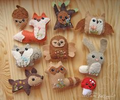 woodland collection | hand sewn from my patterns available a… | Flickr