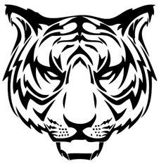 Roaring Tiger Head Stencil 55 latest tribal tiger tattoos