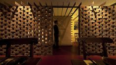 Uchi Lounge 02 by Facet Studio brick perforated screen