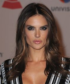 Alessandra Ambrosio Long Straight Hairstyle.