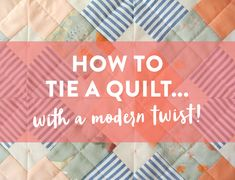 A video tutorial showing you how to tie a quilt! Use this simple quilt tying technique to finish your quilt, or add handmade texture to your machine quilting. The supplies used include DMC Pearl Cotton thread #8 and a DMC Gold Eye embroidery needle.
