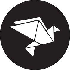 minimal origami dove