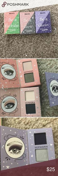 SEPHORA Eyeshadow Duo Set A set of 3 Sephora Collection Eyeshadow Duos  | used once for swatches | $7 each or $15 for all 3 Sephora Makeup Eyeshadow