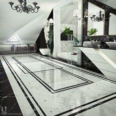 Badezimmer mit Marmor Gestaltung