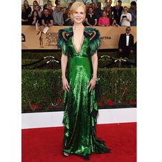 On the red carpet of SAG Awards 2017 Nicole Kidman be a champion for stealing attention with her appearance in a Gucci dress. The actress was spreading spring festivity by wearing emerald color sequined dress with shoulder feather. What a high octane of glamour that night. #NicoleKidman #Gucci #SAGAwards2017  via MARIE CLAIRE INDONESIA MAGAZINE OFFICIAL INSTAGRAM - Celebrity  Fashion  Haute Couture  Advertising  Culture  Beauty  Editorial Photography  Magazine Covers  Supermodels  Runway…
