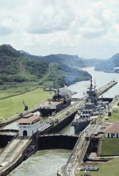 The Panama Canal holds 12 massive locks.