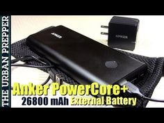 Anker 26800mAh battery with 3 USB charger outputs. TheUrbanPrepper  YouTube