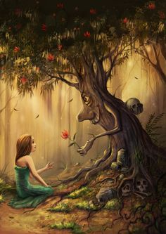 Never Trust a Talking Tree by jerry8448.deviantart.com on @deviantART