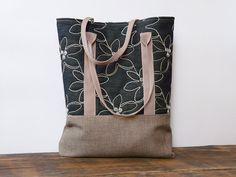 Retro Rustic Jeans Embroidered Tote bag Marketbag by SKMODELL, $64.00