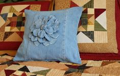 Project Denim, Throw pillow from old jeans!