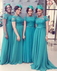 African Bridesmaid Dresses, African Wedding Dress, African Dress, Elegant Dresses Classy, Classy Dress, Braids Maid Dresses, Yellow Bridesmaid Dresses, Stunning Wedding Dresses, Afro